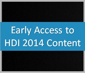 Early Access to HDI 2014 Content