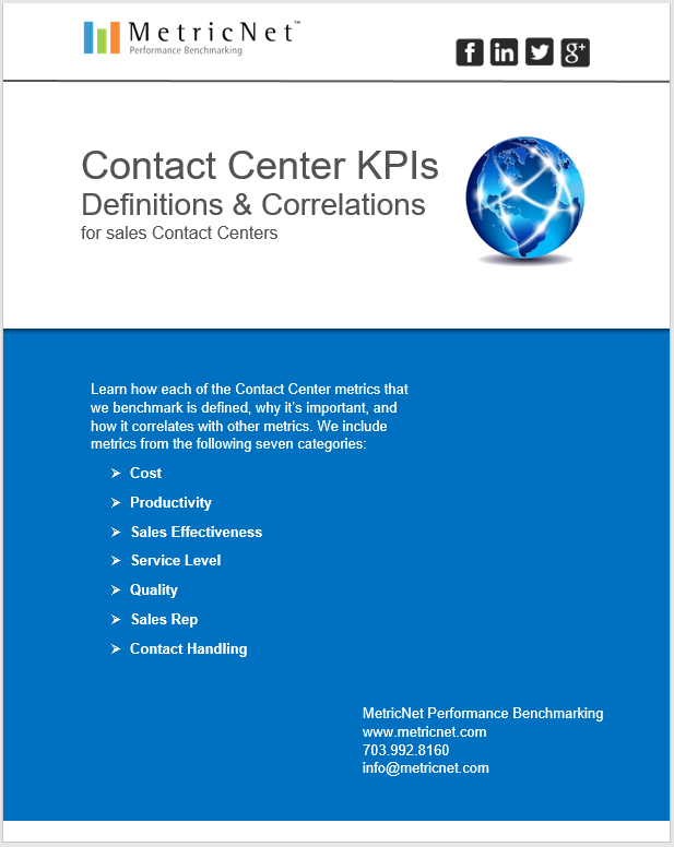 Sales Contact Center Metrics | An Introduction eBook from MetricNet